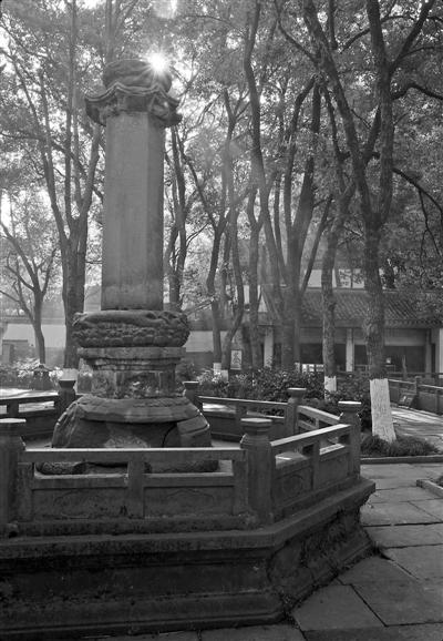 保国寺唐代经幢是最古老的梅园石